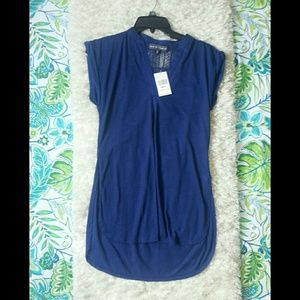 Almost Famous Navy Top size small NWT